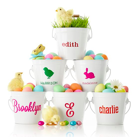 The perfect personalized basket for an Easter Egg Hunt thanks to  Mark and Graham