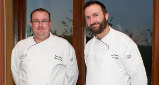 From the Right: Bryan Tomko, Executive Chef;Brian Eastman, Sous Chef