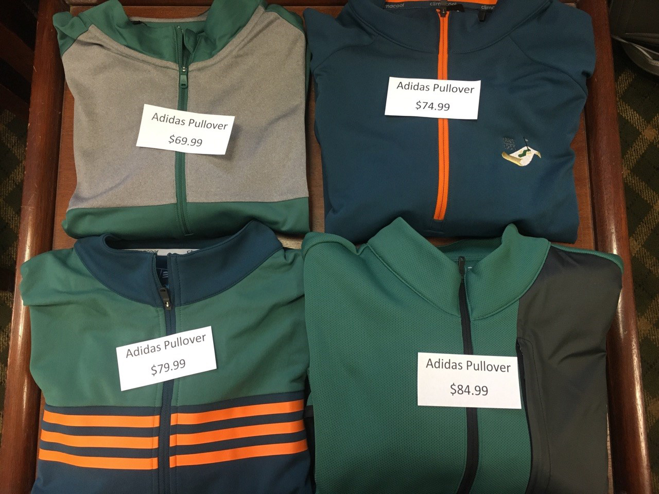 Pullovers:$69.99 - $84.99