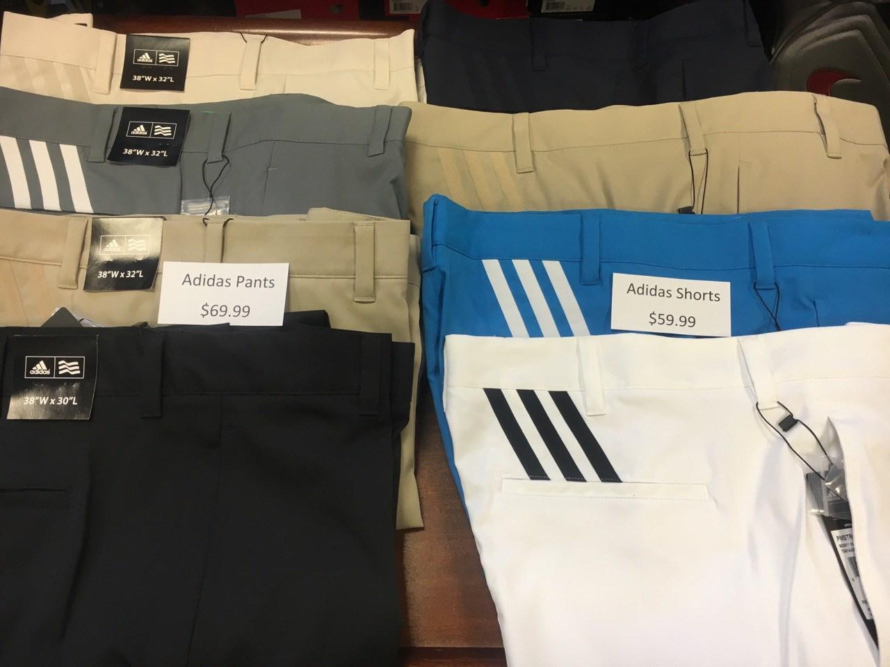 Pants:$69.99 - $89.99;    Shorts:$59.99