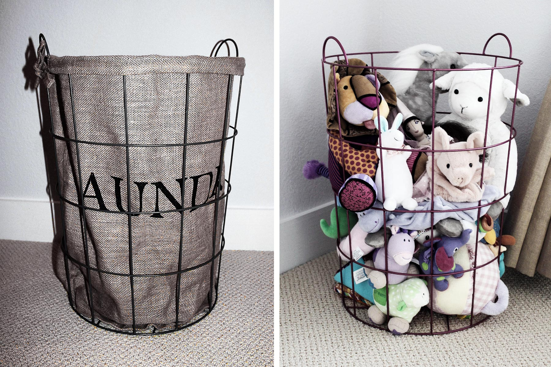 TOY STORAGE -      Basket or Bin + Spray Paint