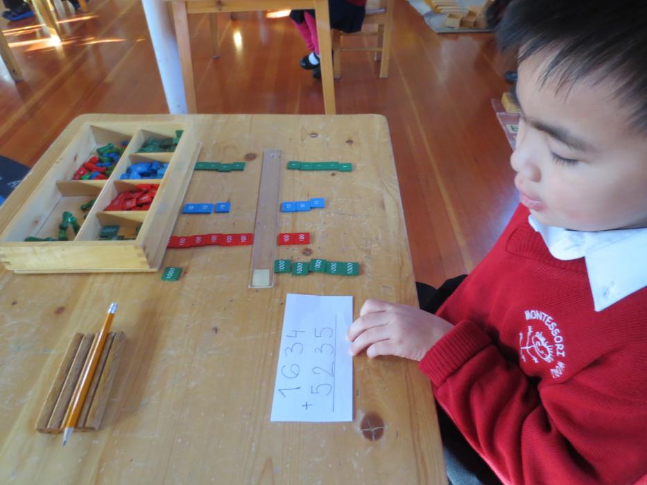 Boy learning math - Math