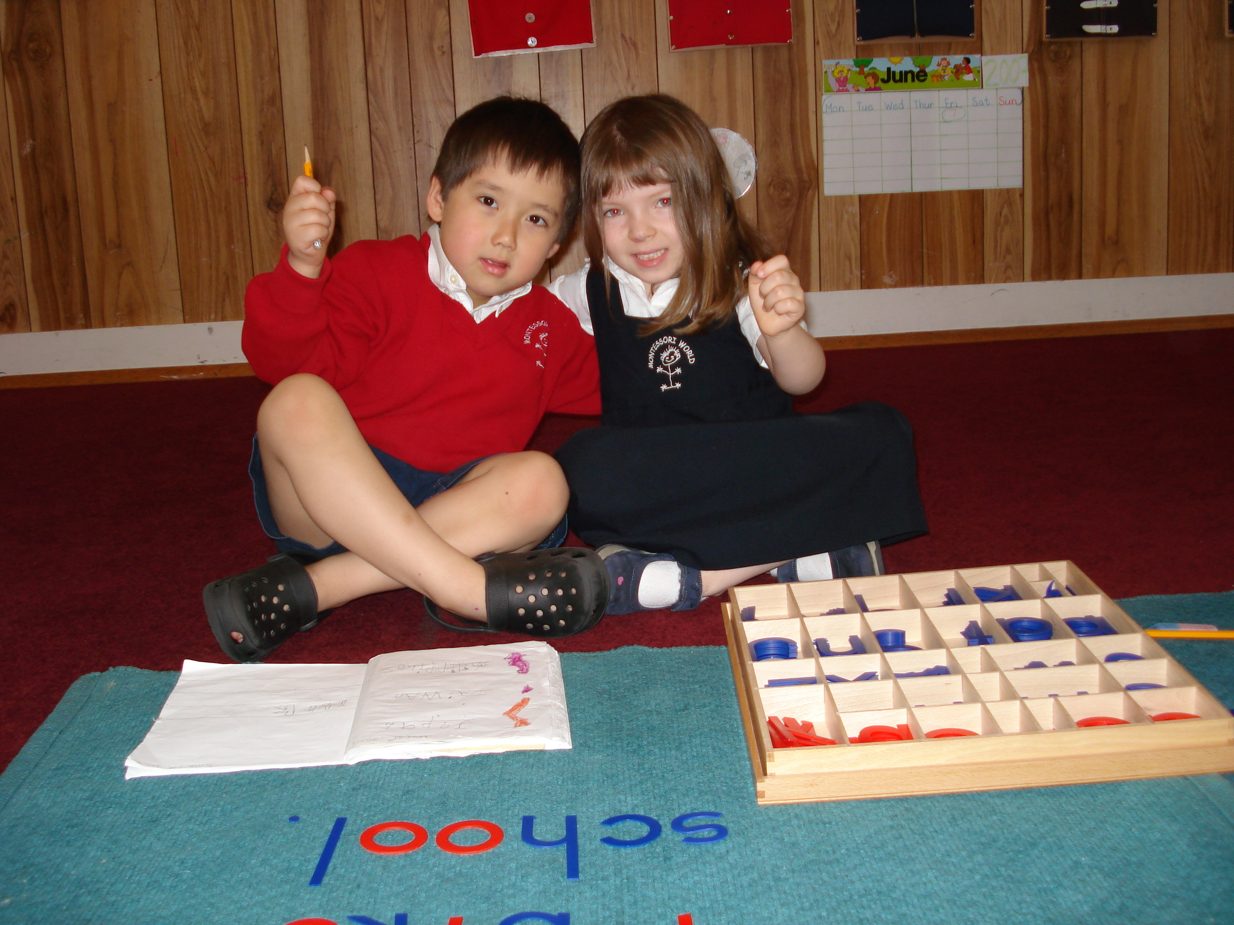 Children learning to spell - Language