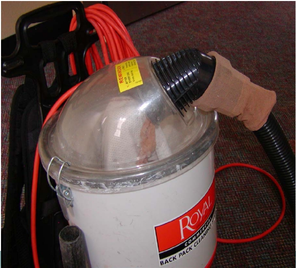 Specialized vacuuming procedure using nylon to reduce chances of infesting your vacuum.