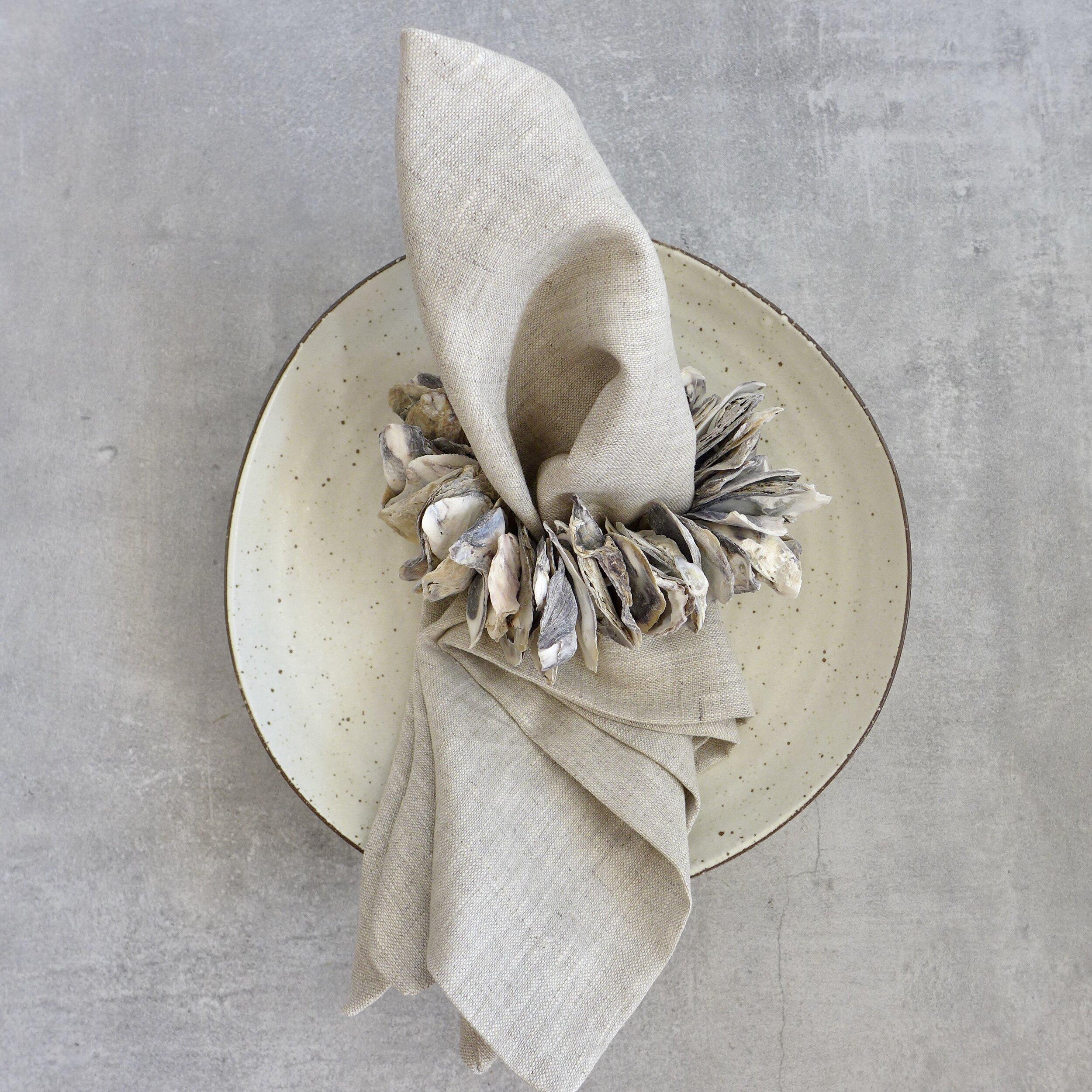 Oyster Napkin Ring Holder