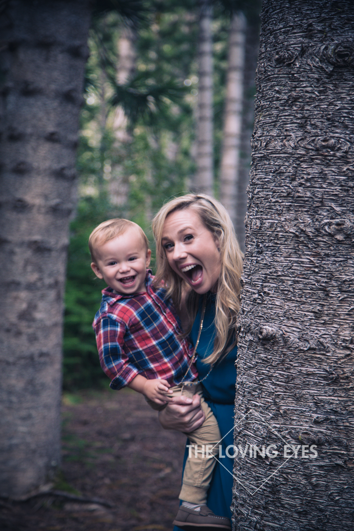 Silly Photo of Mom and Son