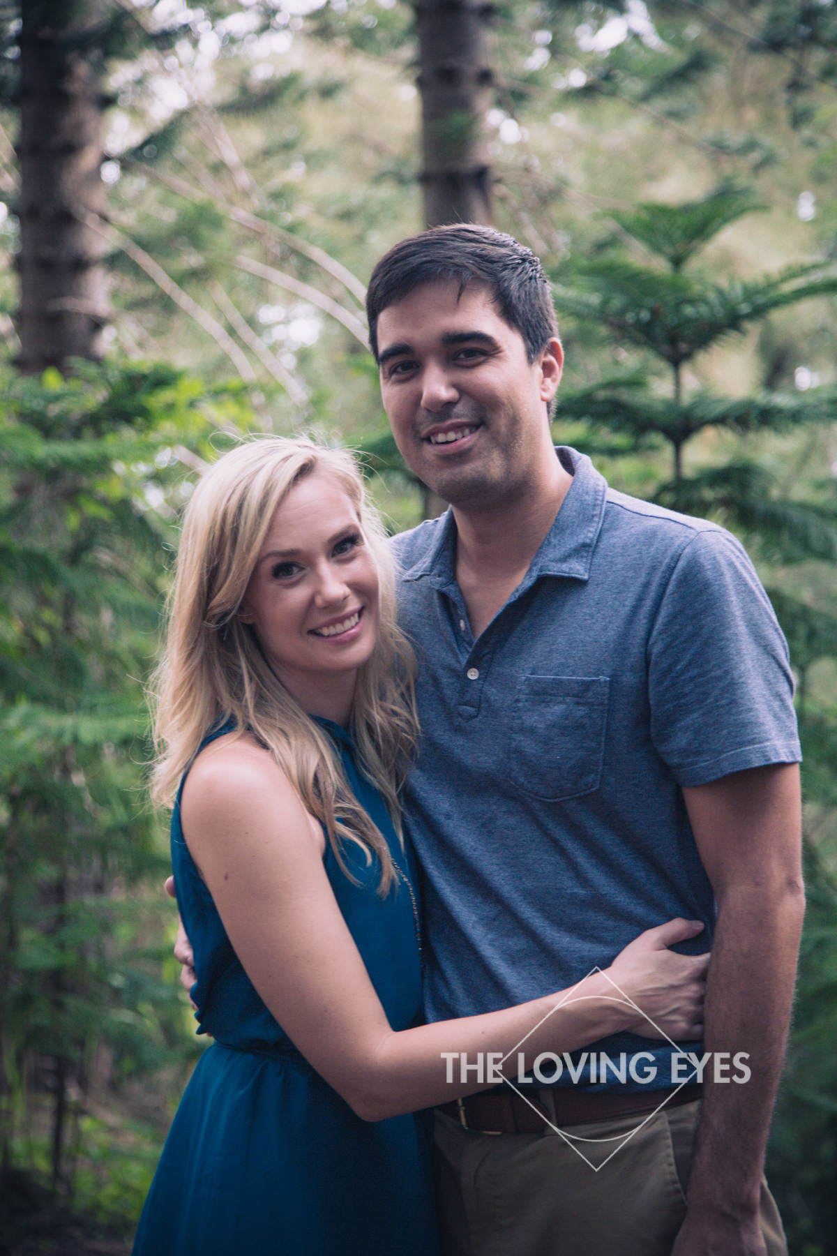Couple Portrait in the Woods in Hawaii