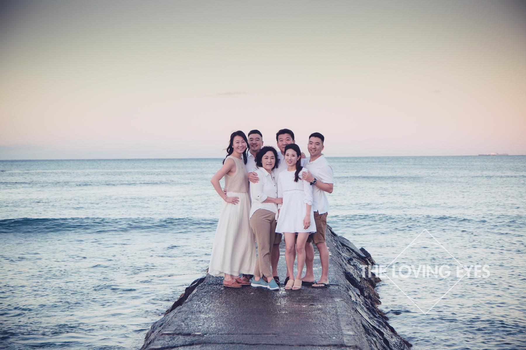 Family portrait in Waikiki Beach