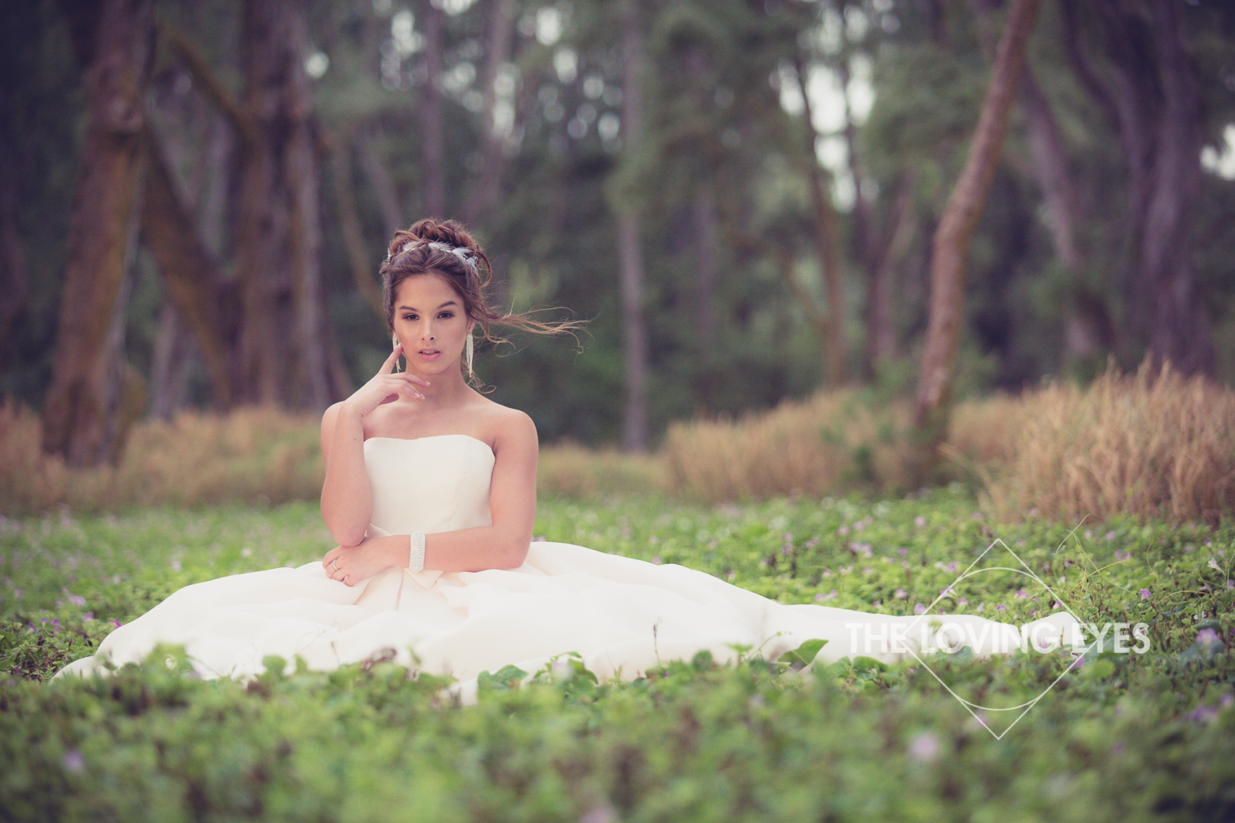 Quincennera photo in the forest at Waimanalo in Hawaii