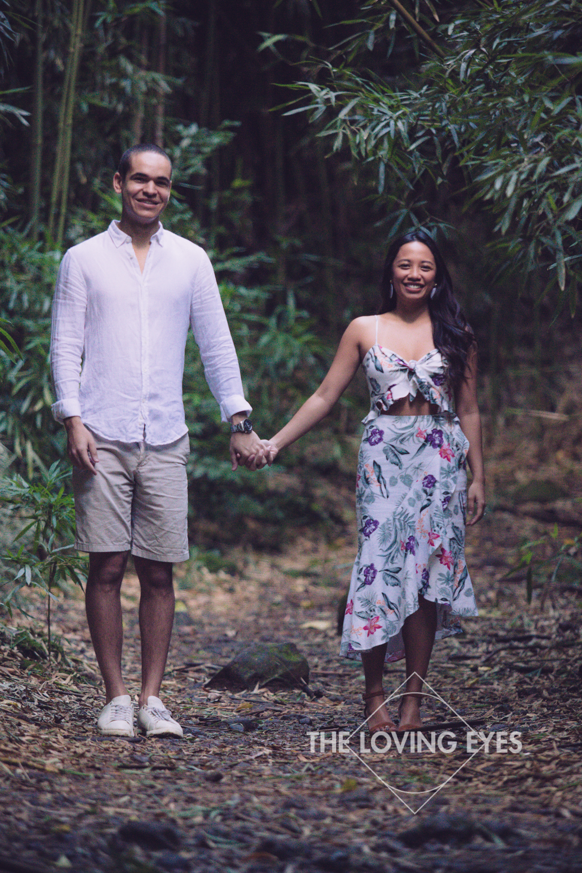 Engagement in a bamboo forest in Hawaii