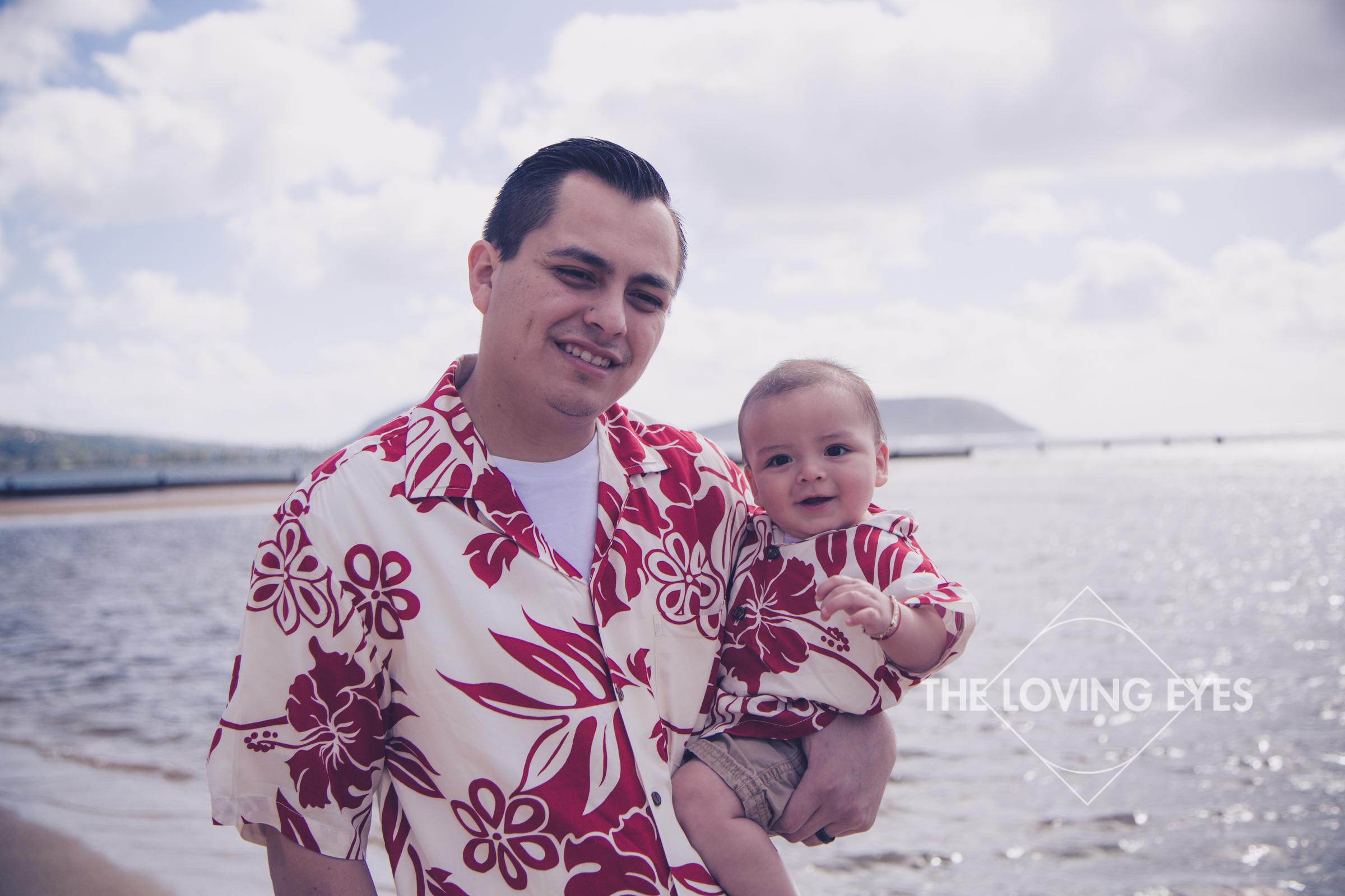 Family vacation photo at Waialae Beach Park in Hawaii