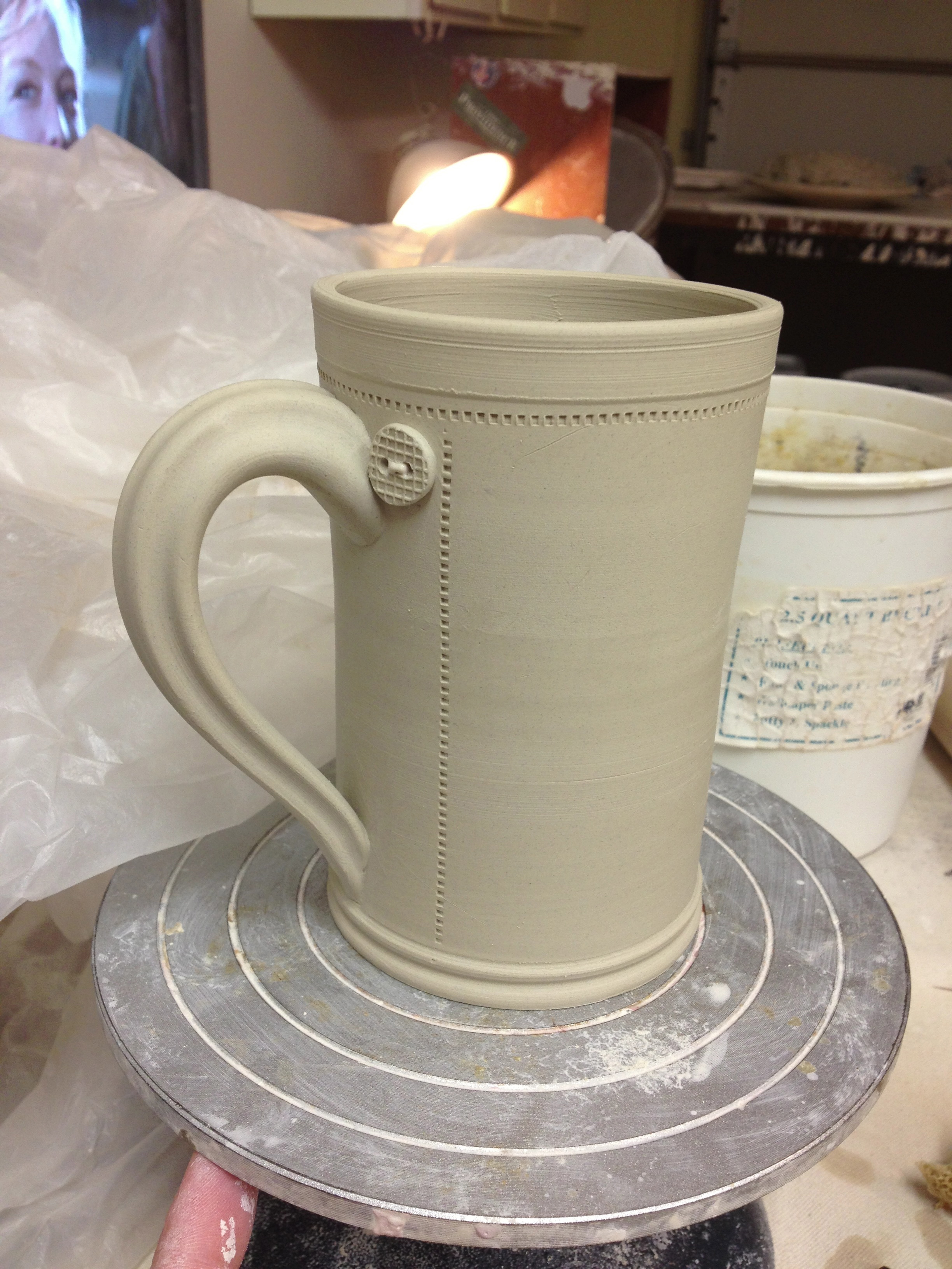 greenware button mug