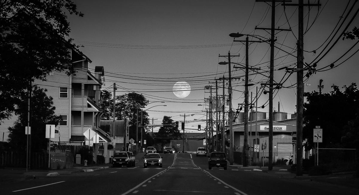 Moonrise Sony A7 with Leica Elmarit 135/2.8 Ketchikan, AK  Felix Wong  ©  2014