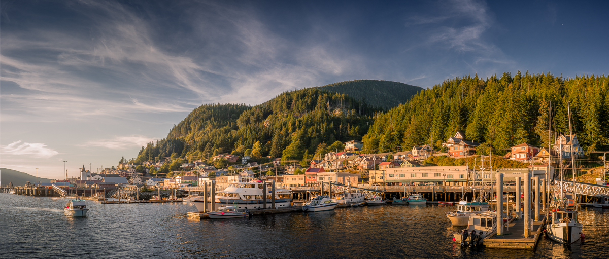 Ketchikan in Gold Sony A7 with Leica Summicron-C 40/2 Stitched panorama Ketchikan, AK  Felix Wong   ©   2014