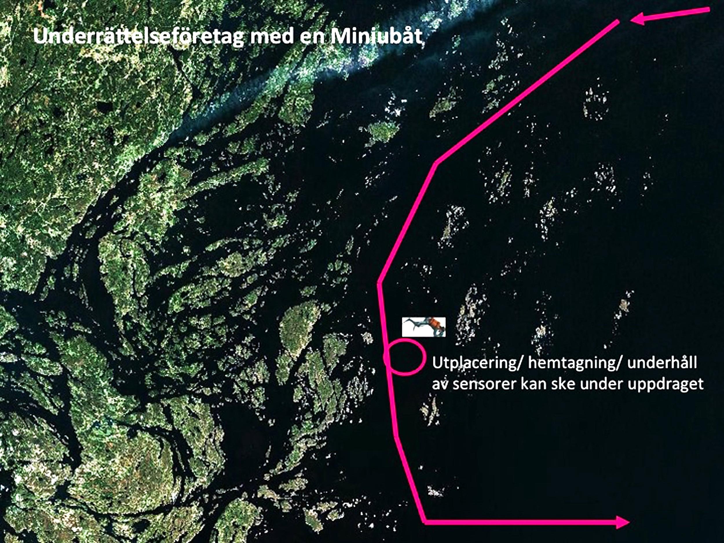 Operationsprofil 1: Underrättelseföretag med en miniubåt