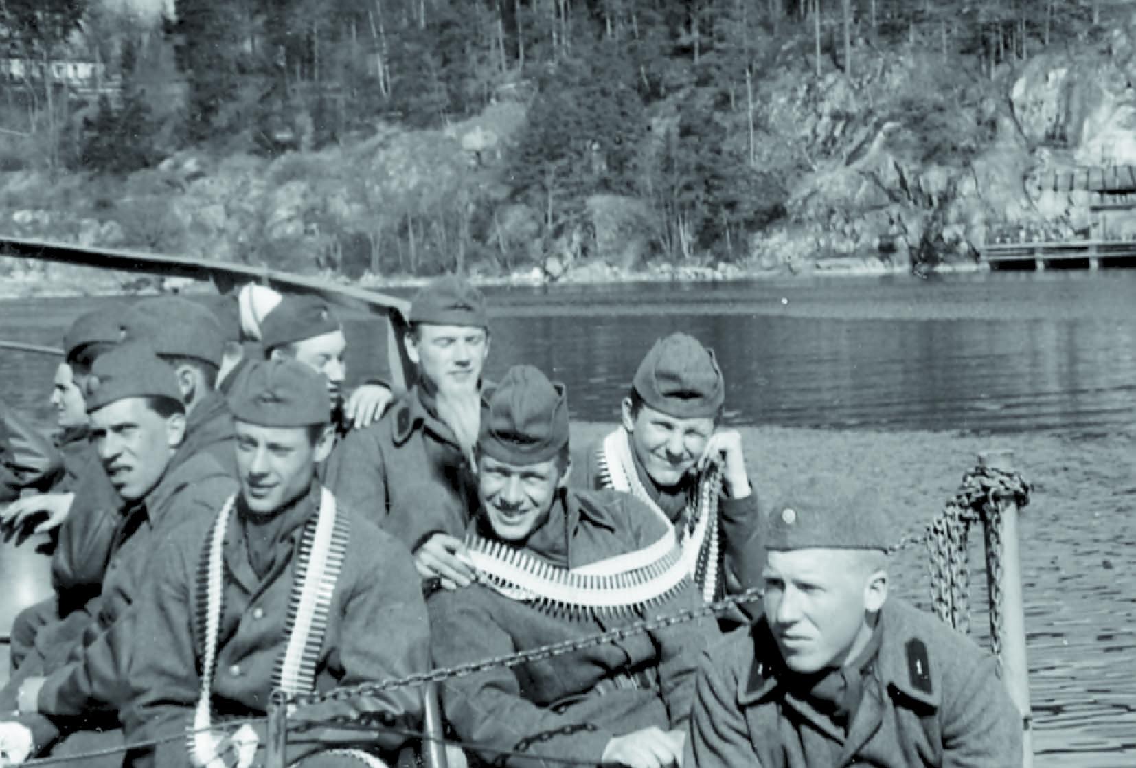 Kustjägare under utbildning 1957