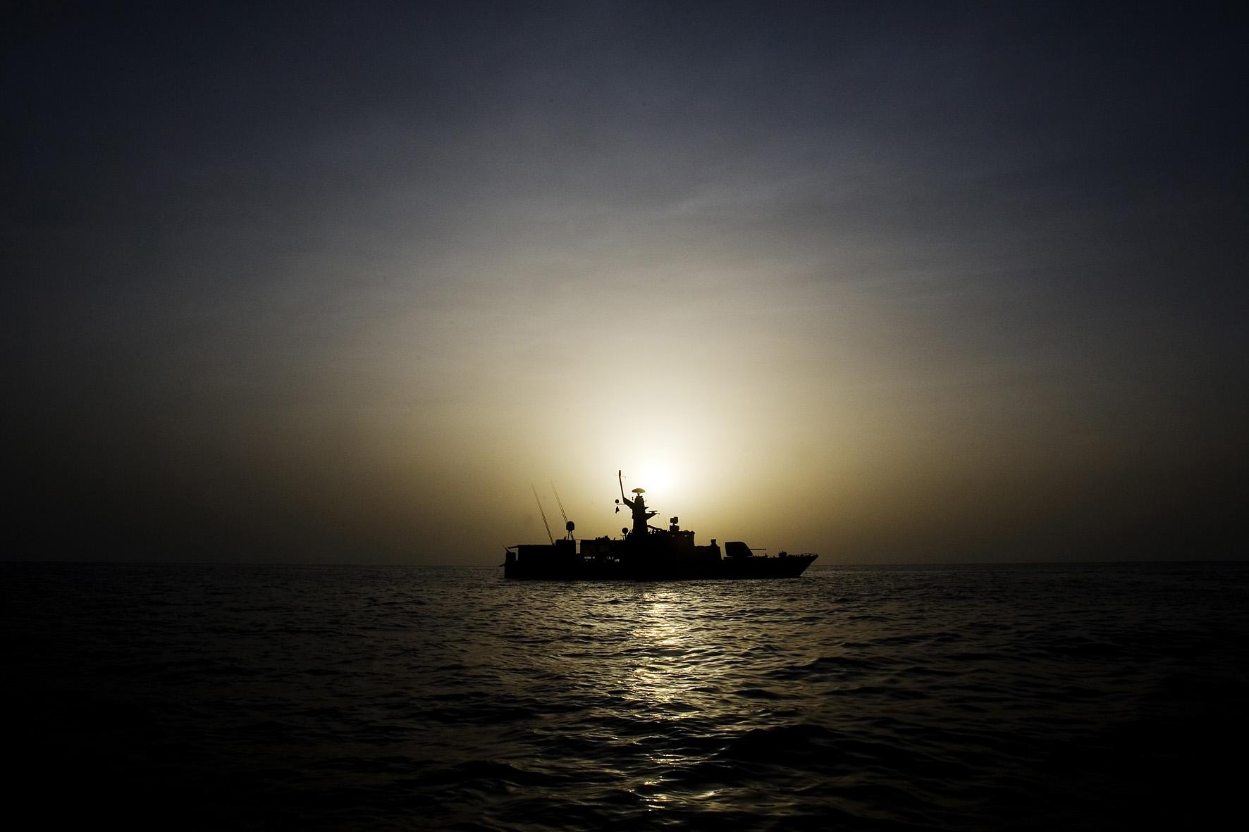 HMS Stockholm under insats i Adenviken. Foto:Johan Lundahl/Combat Camera/Försvarsmakten