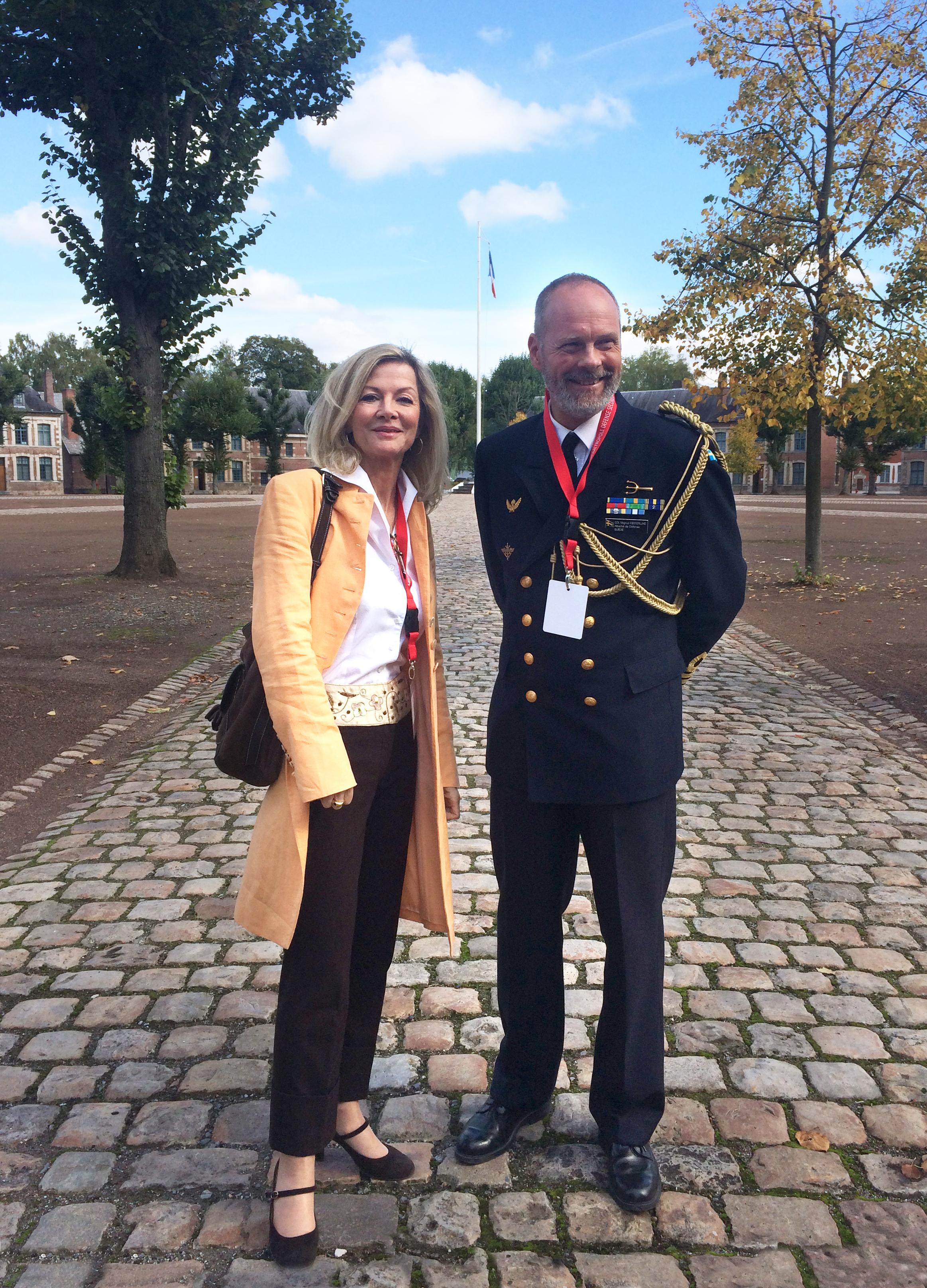Säkerhetspolitiskt seminarium i Lille tillsammans med svenska ambassadören i Frankrike, Veronika Wand Danielsson.