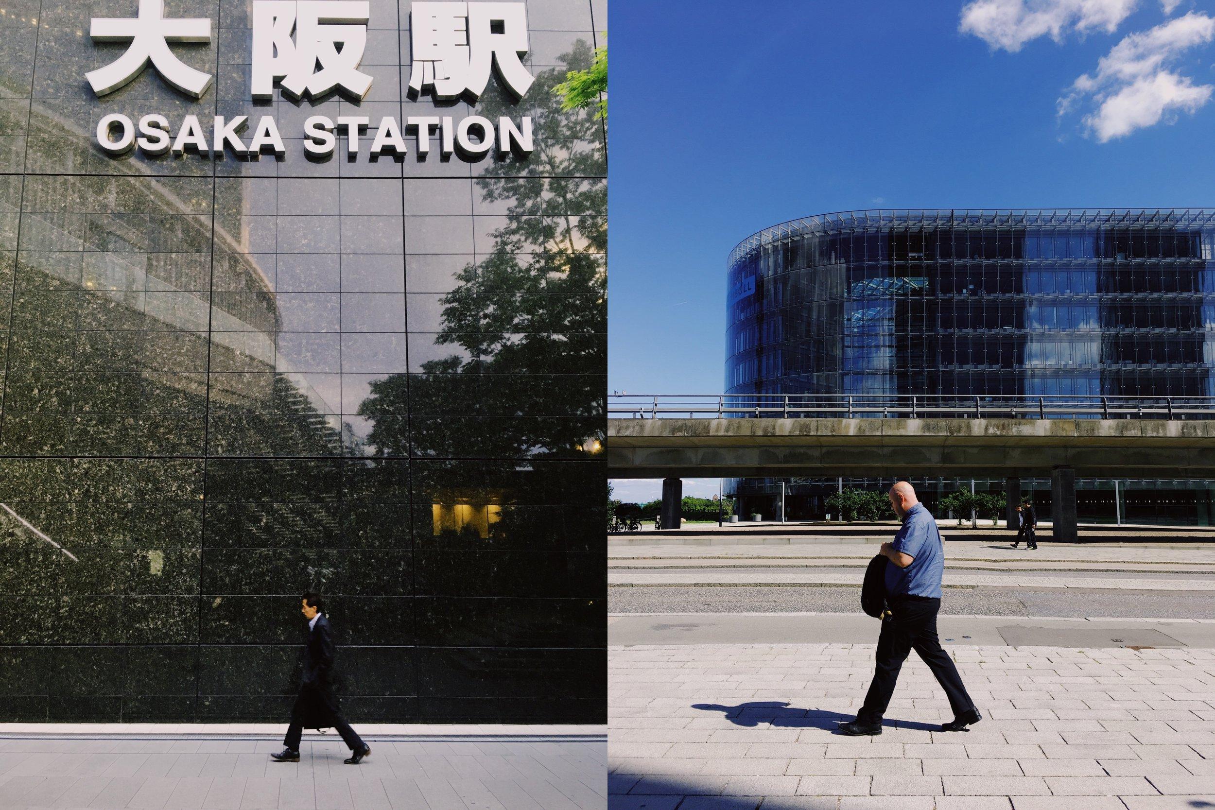 Walk (Osaka, Japan; and Copenhagen, Denmark)