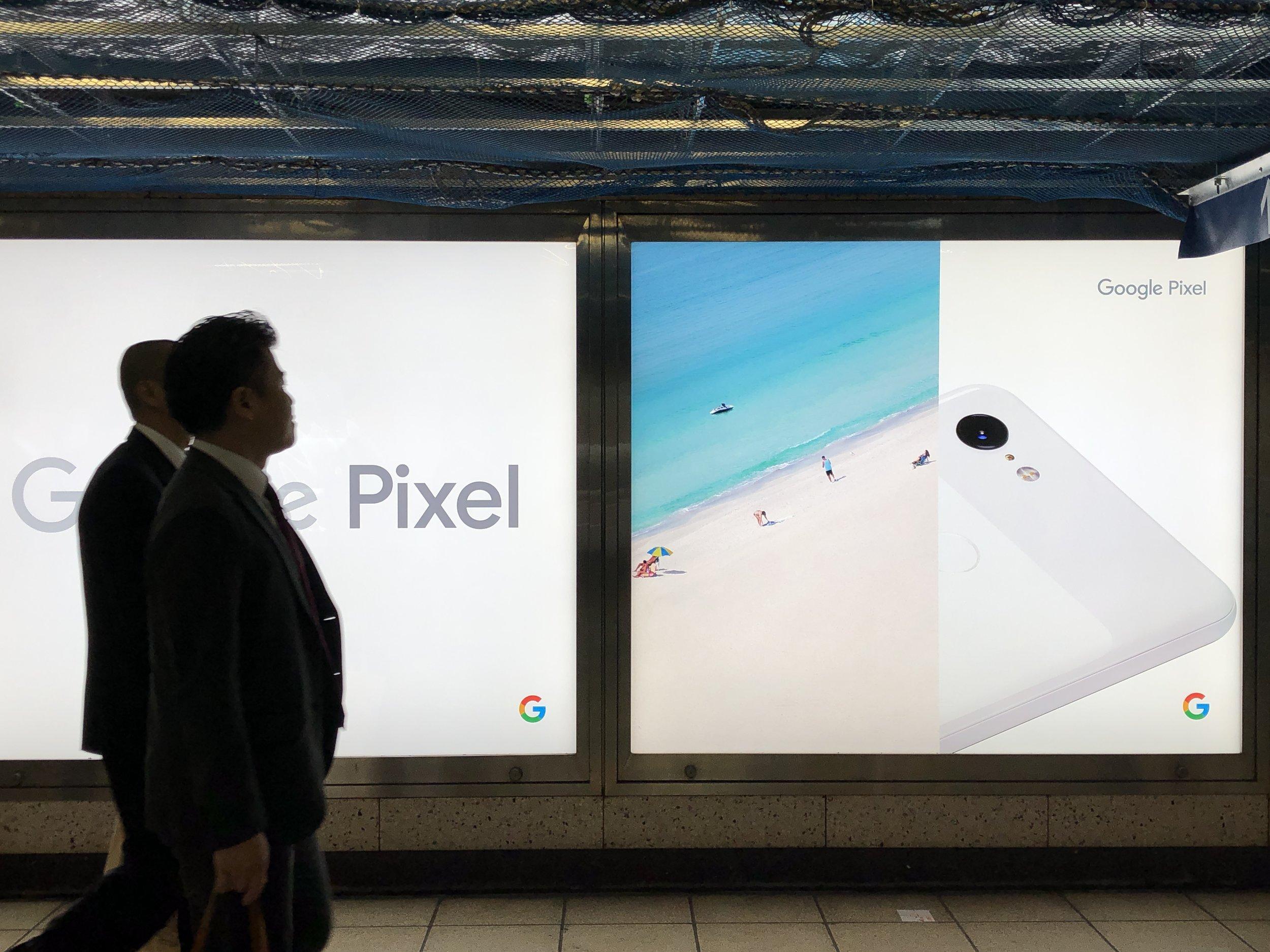 在東京看到的Google Pixel廣告,2018
