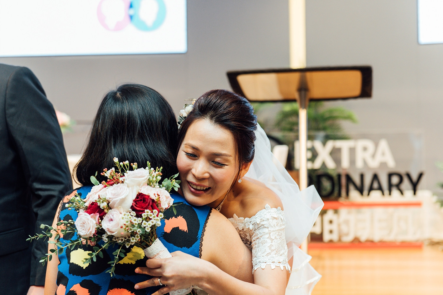 Church Wedding Singapore at Grace Assembly of God Church - wedding couple giving their speech