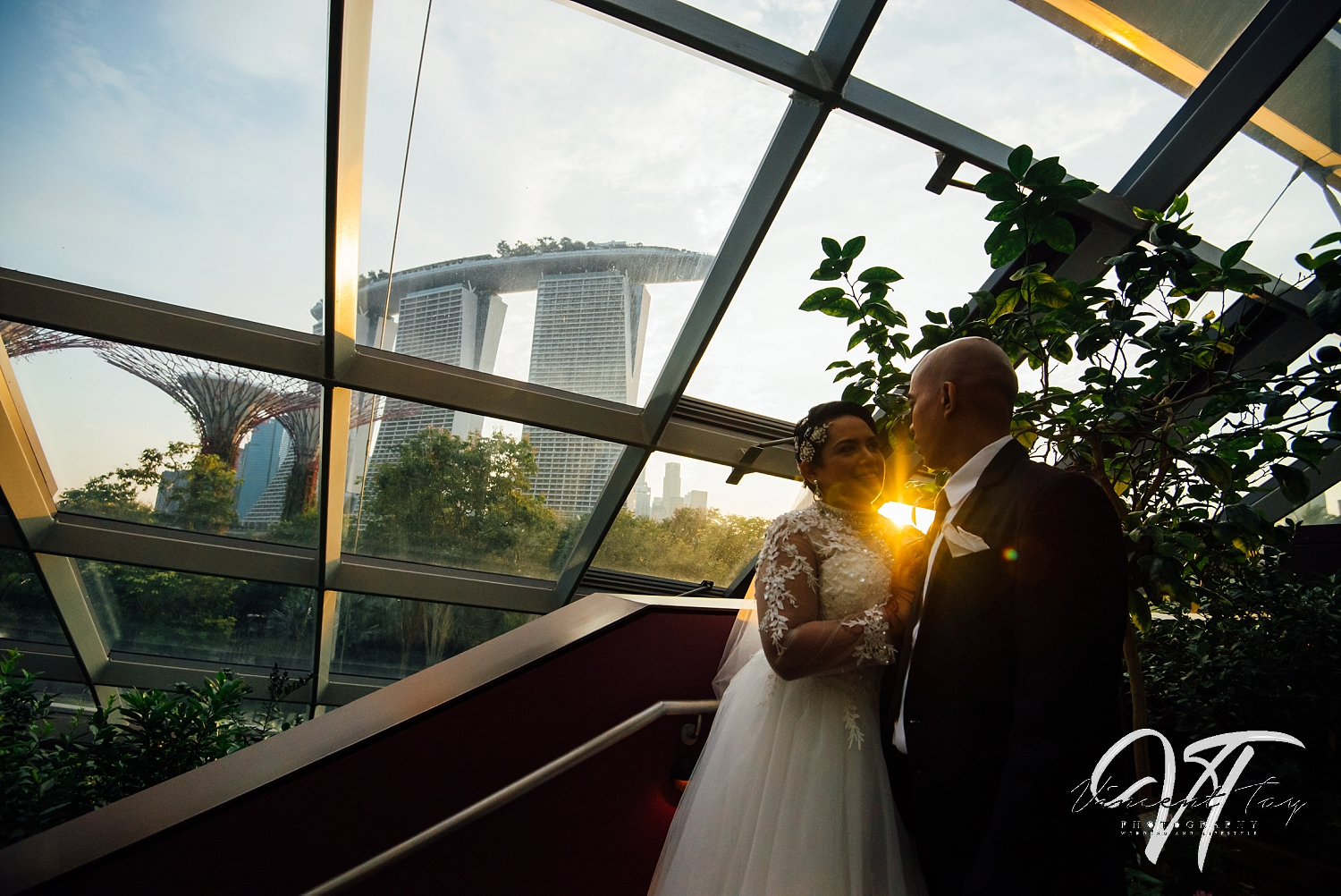 Gardens by the Bay Wedding at CloudForest Sunset