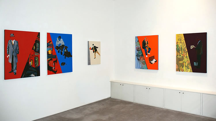 Installation view, 'Kimberley Gundle. A Slice of London', Art First, London, England, 2009