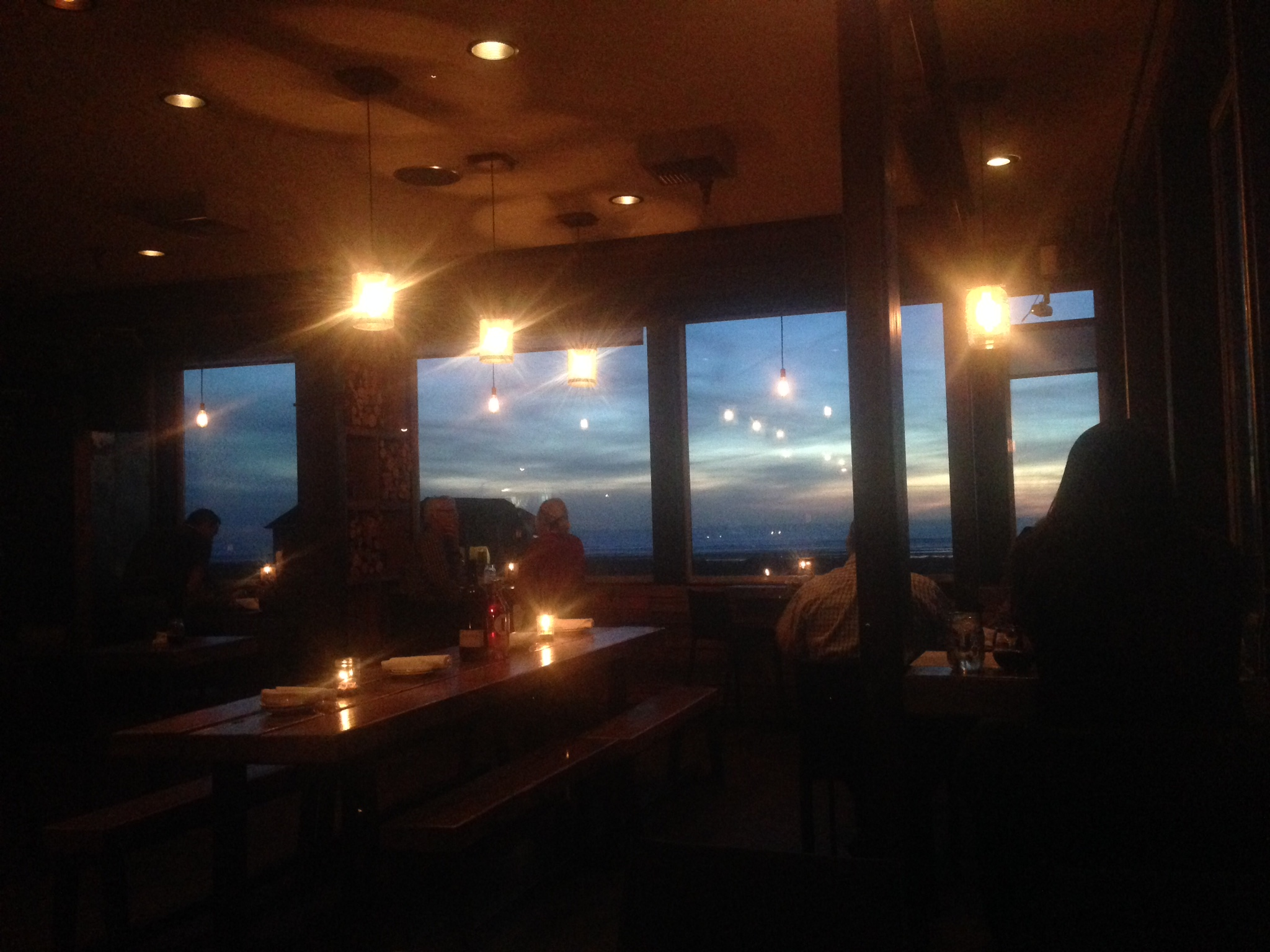 The view from Long Beach's Pickled Fish, not too shabby.