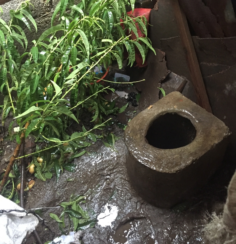 This was the latrine at the home of a midwife in Guatemala. It was such an eye-opening experience to actually be on my period and use this toilet.
