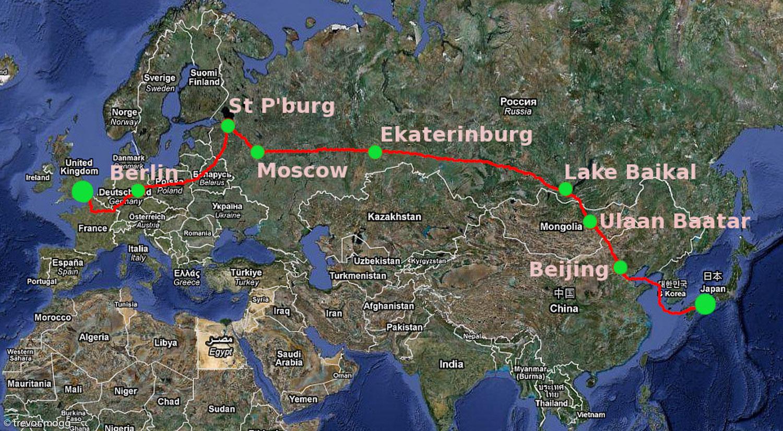 Photos taken during a trip from Kobe (Japan) to London (UK) by boat and train.  Stops were made in Beijing, Ulaan Baatar, Irkutsk, Lake Baikal, Ekaterinburg, Moscow, St. Petersburg, Berlin and Paris.