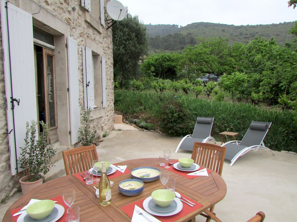 Private terrace of Le Haut Maison