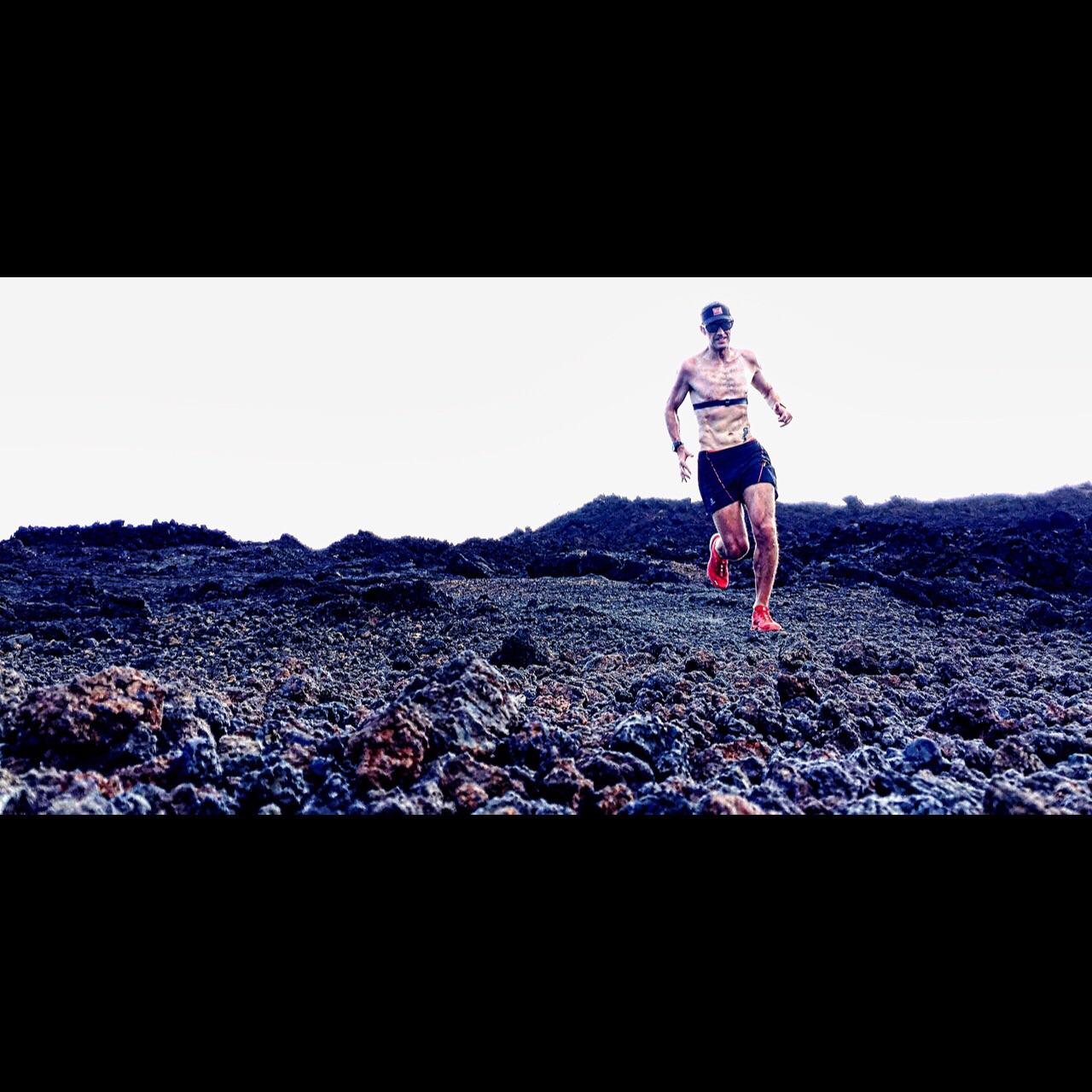 Running in lava rock