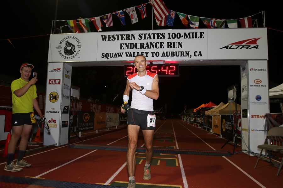 Relief. George snapping a shot after pacing me over the last 7 miles. WS100 finish is a very special place