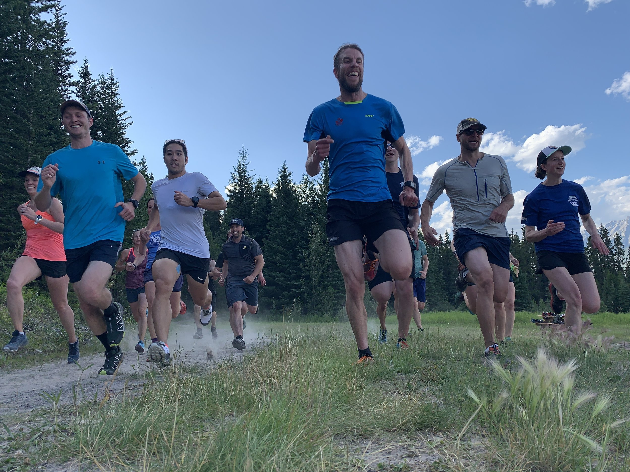 Dirtbag runners looking after their knee cartilage! -