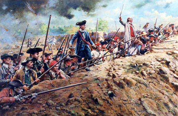 Inexperienced American militiamen near Bunker Hill are able to inflict heavy casualties upon the world's greatest army,in 1775.