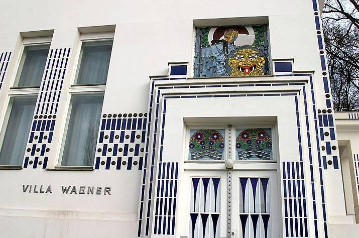 Detail of a villa façade by Otto Wagner