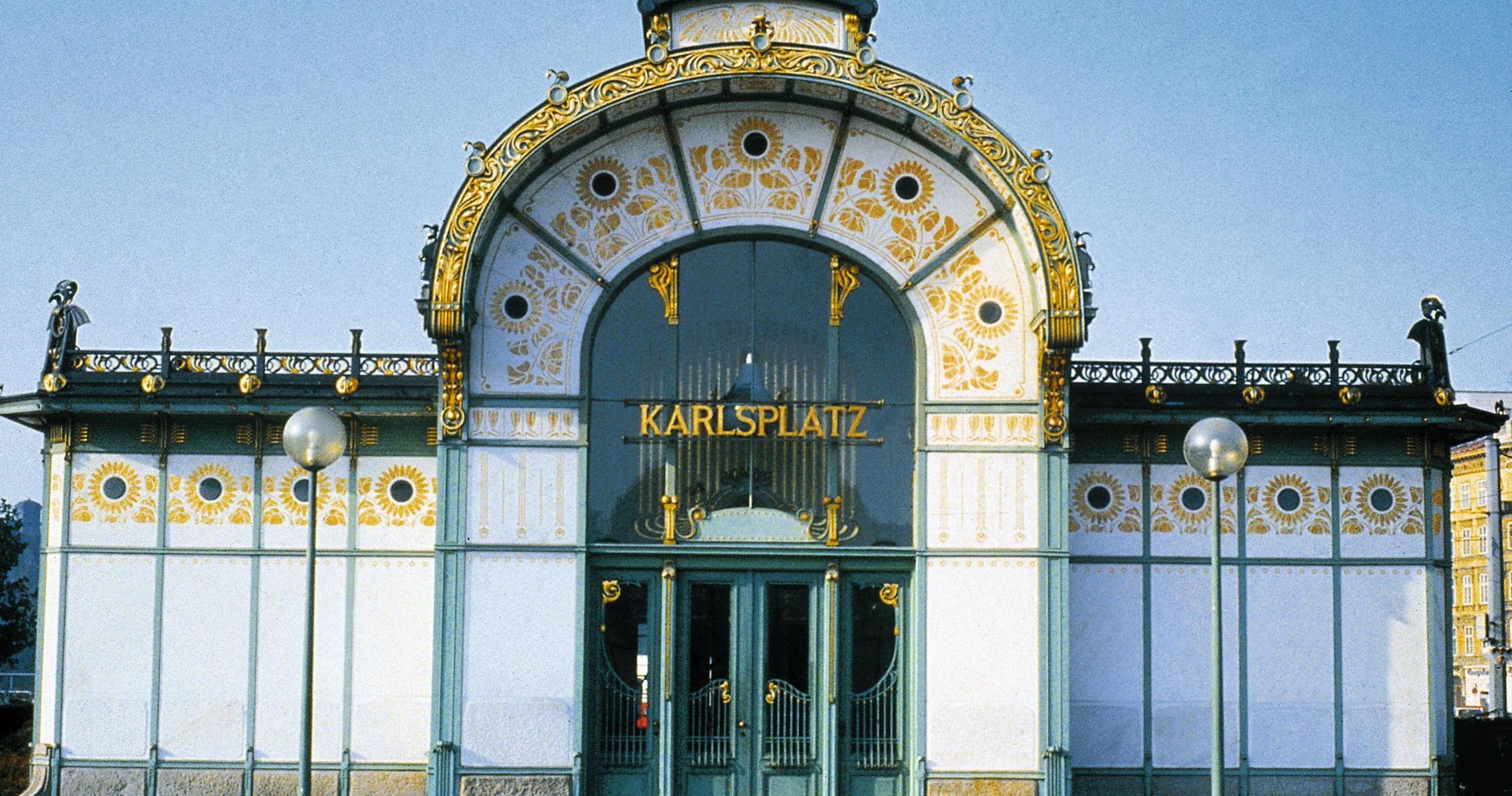 A railway station pavilion by Otto Wagner