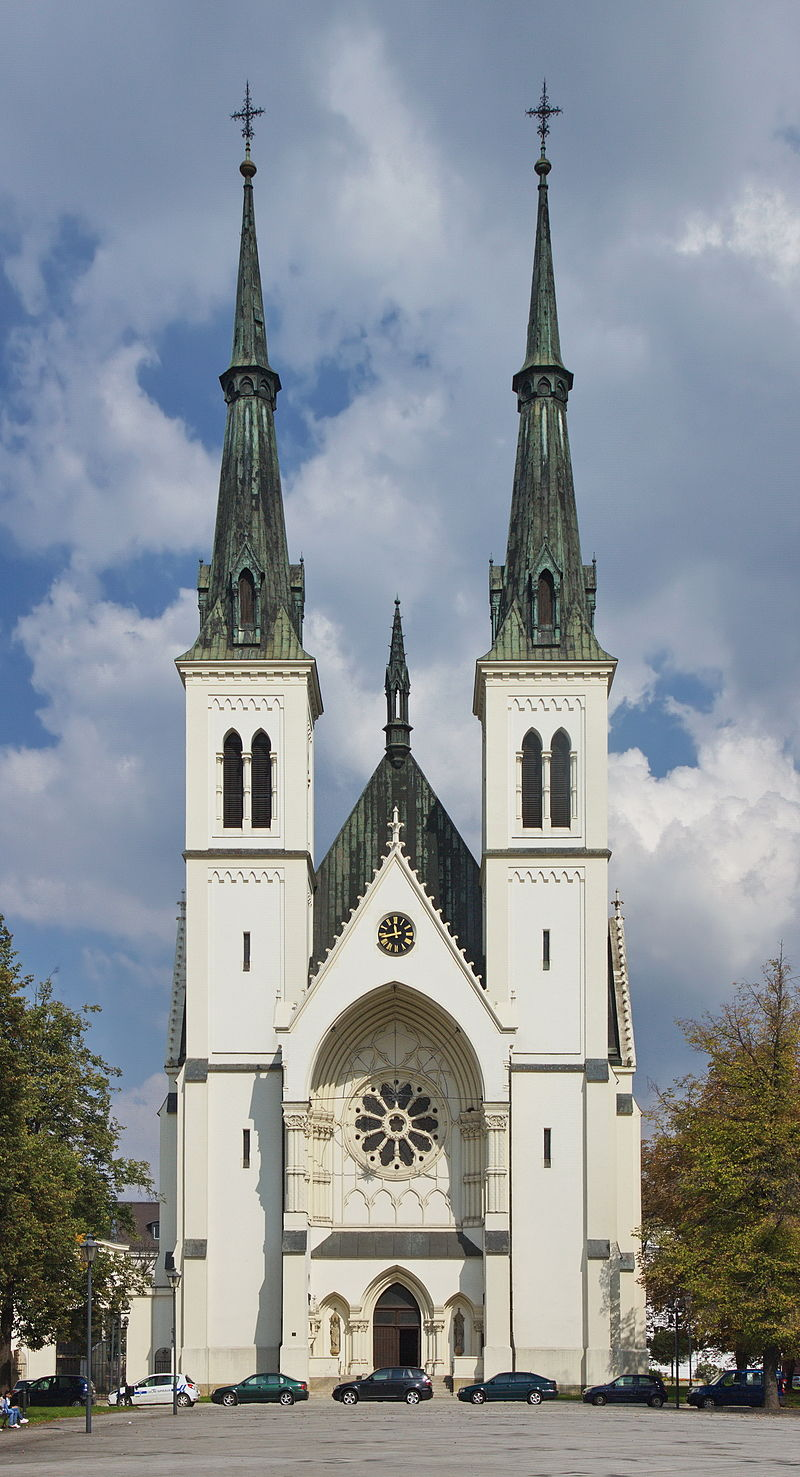 Church of the Immaculate Conception, by Camillo Sitte, in Prívoz, Czech Republic