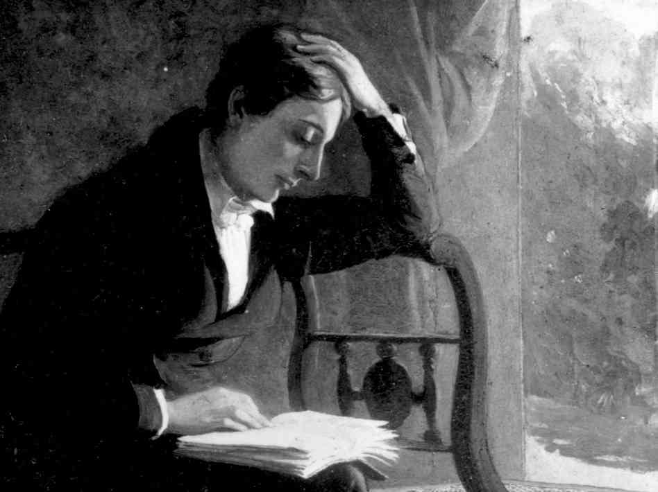 The divine John Keats, the greatest lyricist of the English language.