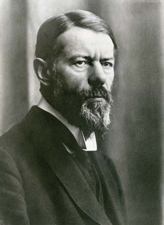 Max Weber. He looks so sure of himself that one could swear he believes in higher truths.