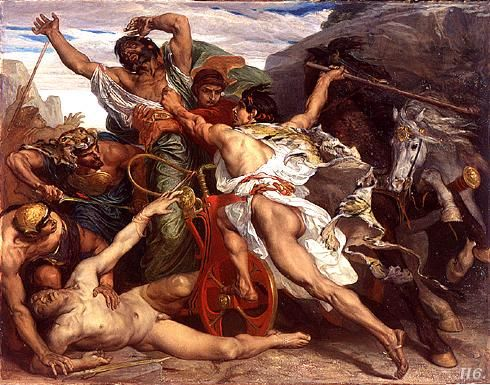 The complex event of Oedipus killing Laius, by Paul-Joseph Blanc.