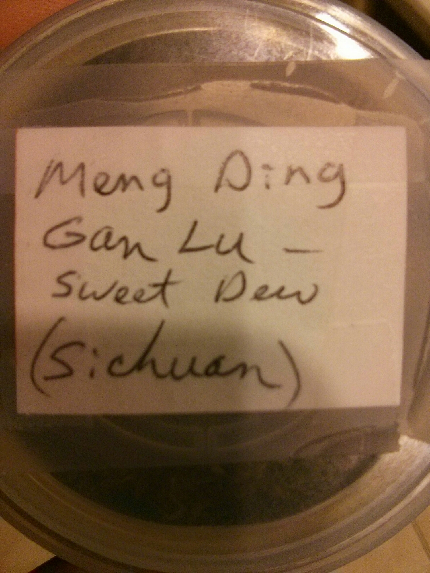 "Meng Ding Gan Lu or ""Sweet Dew"" is a very famous green tea from Sichuan Province."