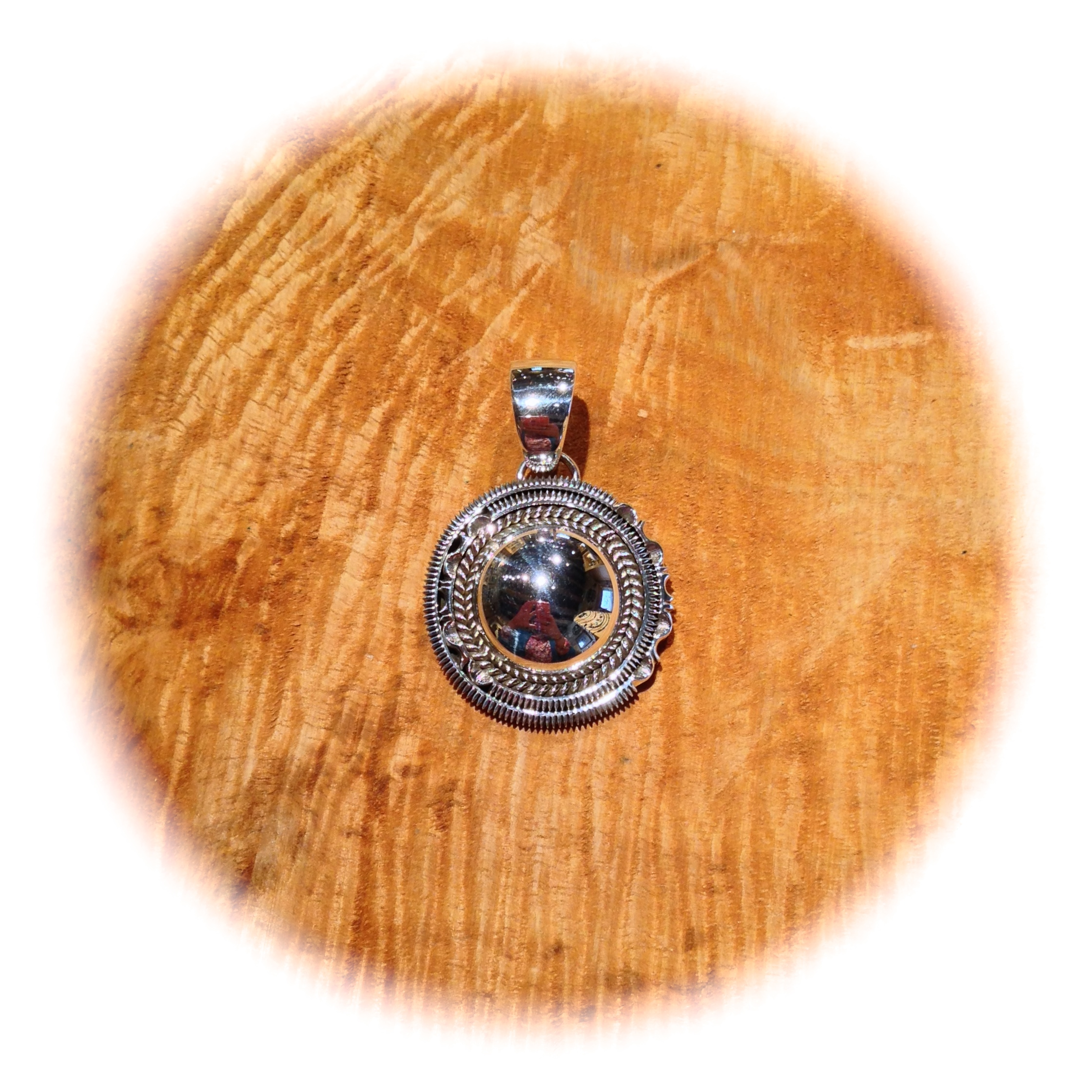Collaboration Pendant by Artie Yellowhorse and Henry Chackee