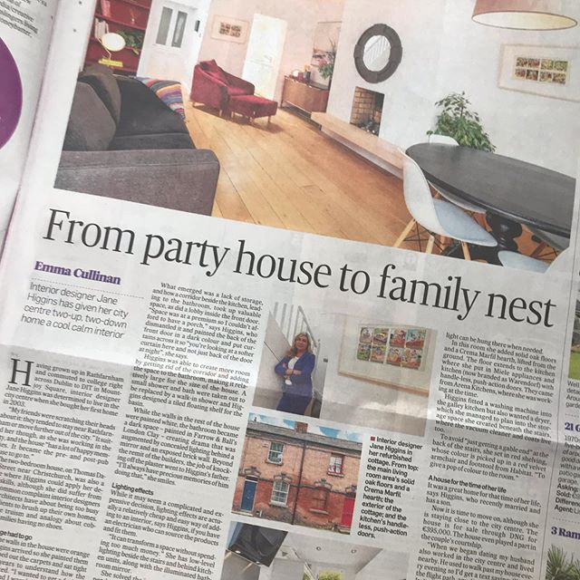 Really happy to be featured in today's home & design supplement in @irishtimesnews on my first home & the best of memories. Best of kitchens @arena_kitchens @mieleireland #theliberties #homedesign #citylife #houseforsale