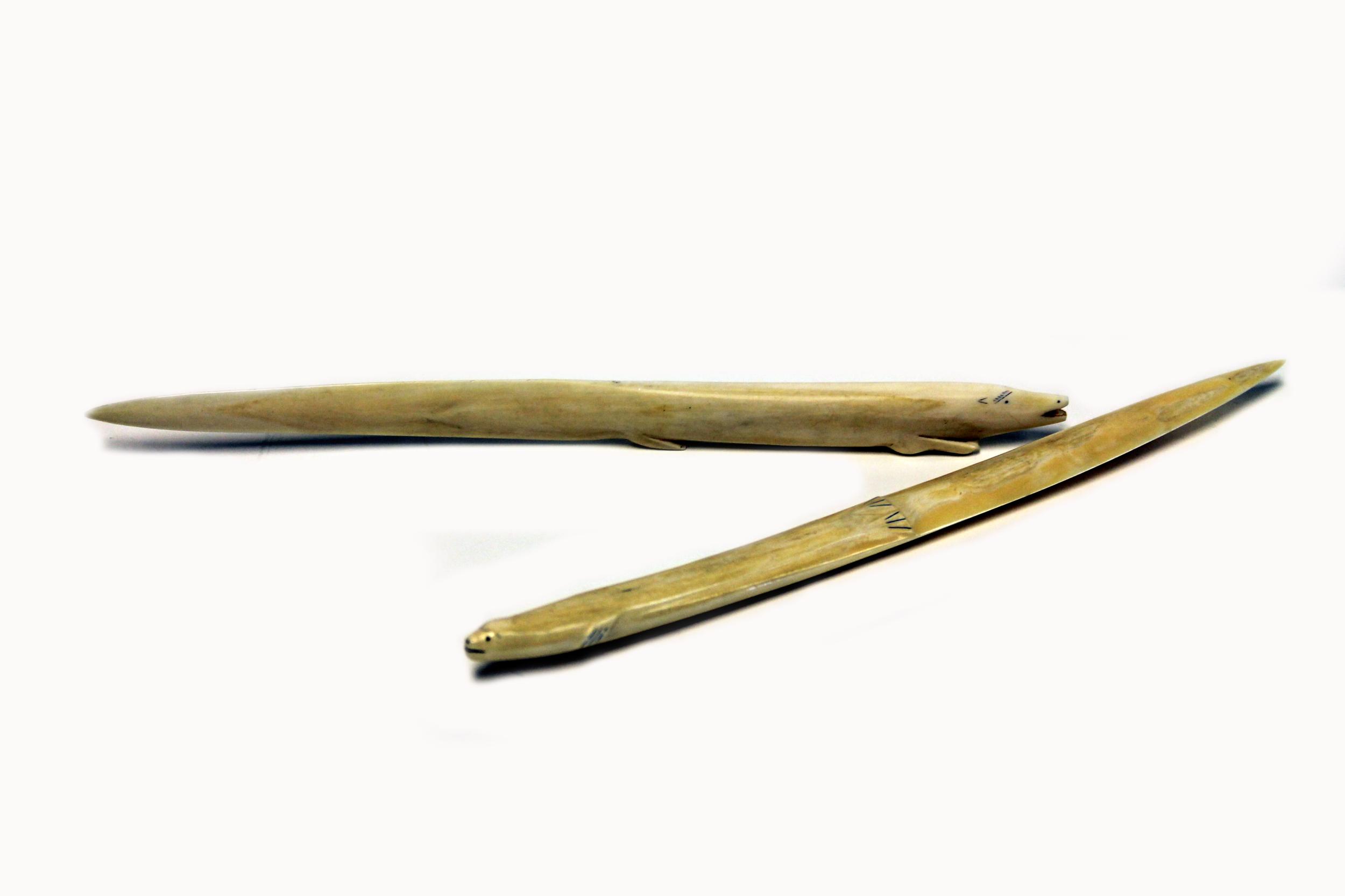 2 Piece Walrus Ivory Letter Openers Barnhart Jewelers