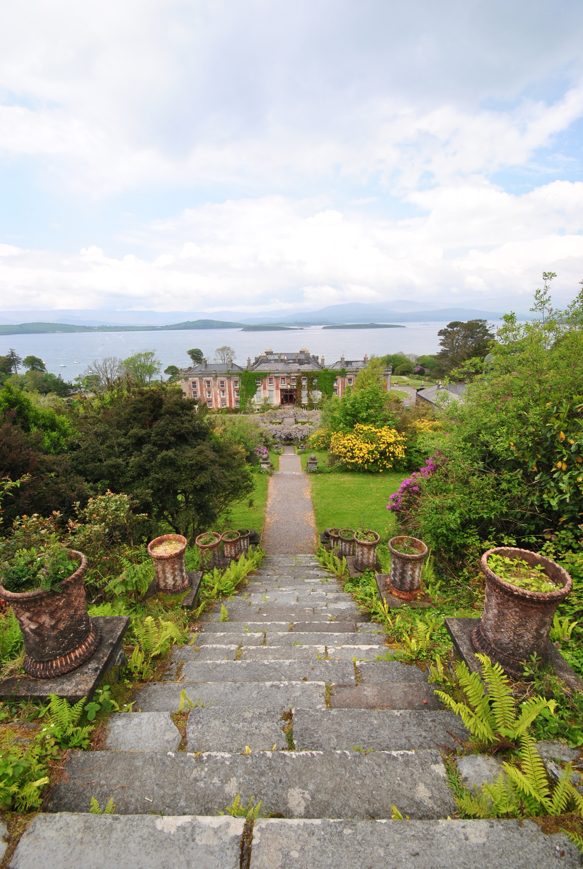 At the top of 100+ steps at Bantry House & Gardenhttp://www.bantryhouse.com/bantryhouse/