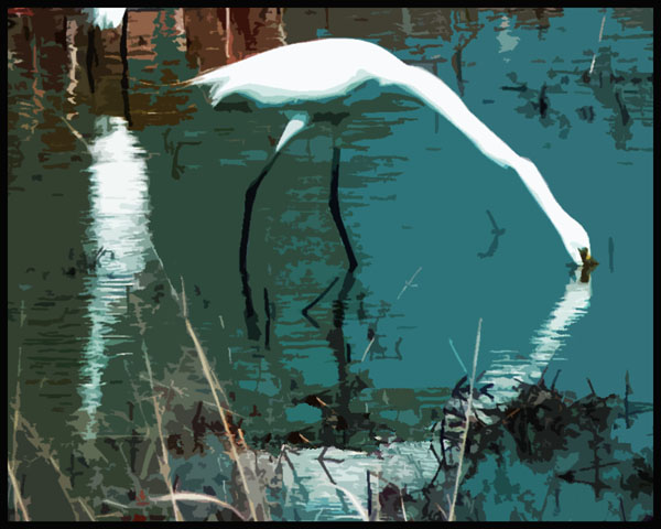 Abstract Great Egrets