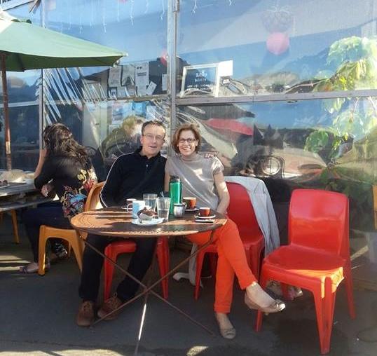 Samo's cafe Lyttleton, took us three hours to get away