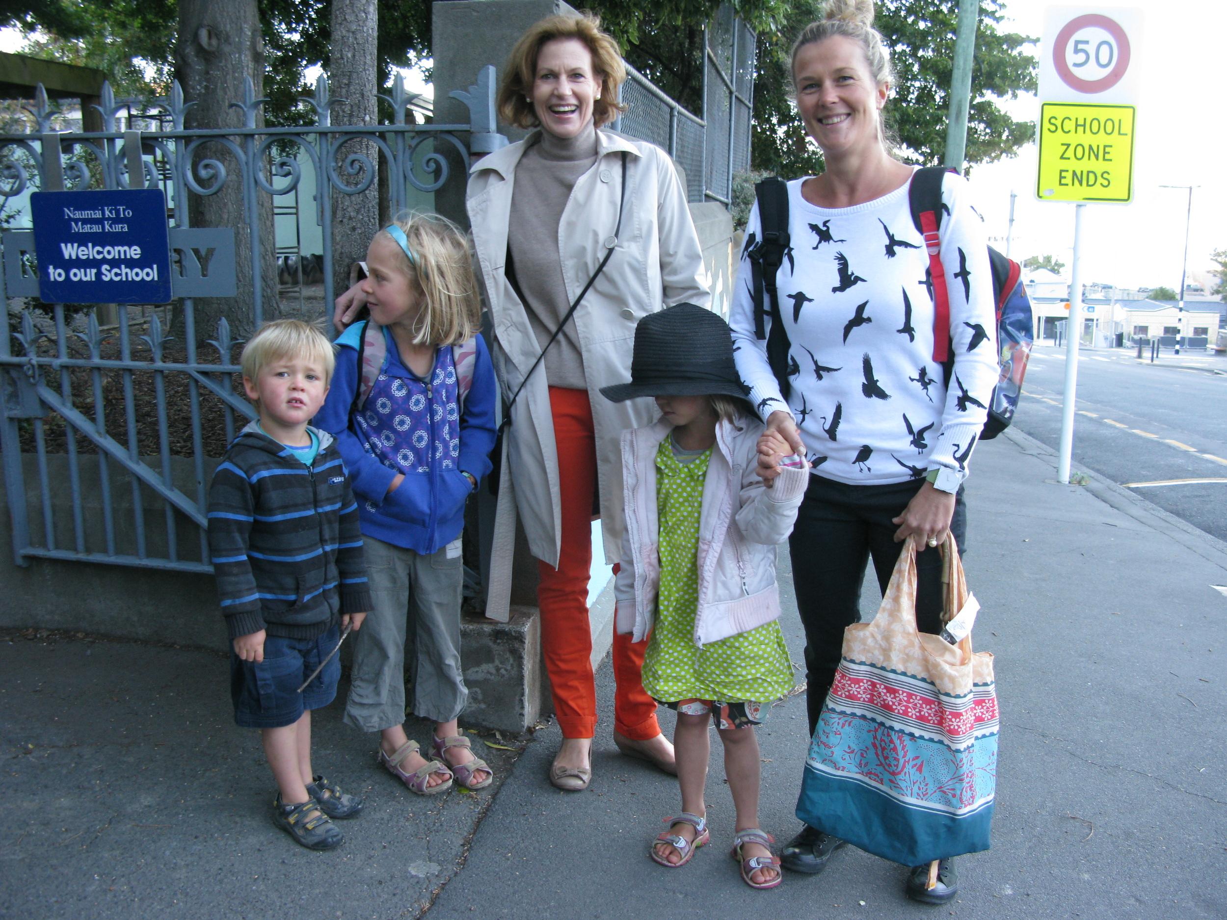 School Run : Sam, Boh, Nick, Lulu and Kate.