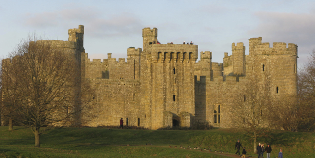 Bodium Castle, one of Britian's most picturesque, built in 1385